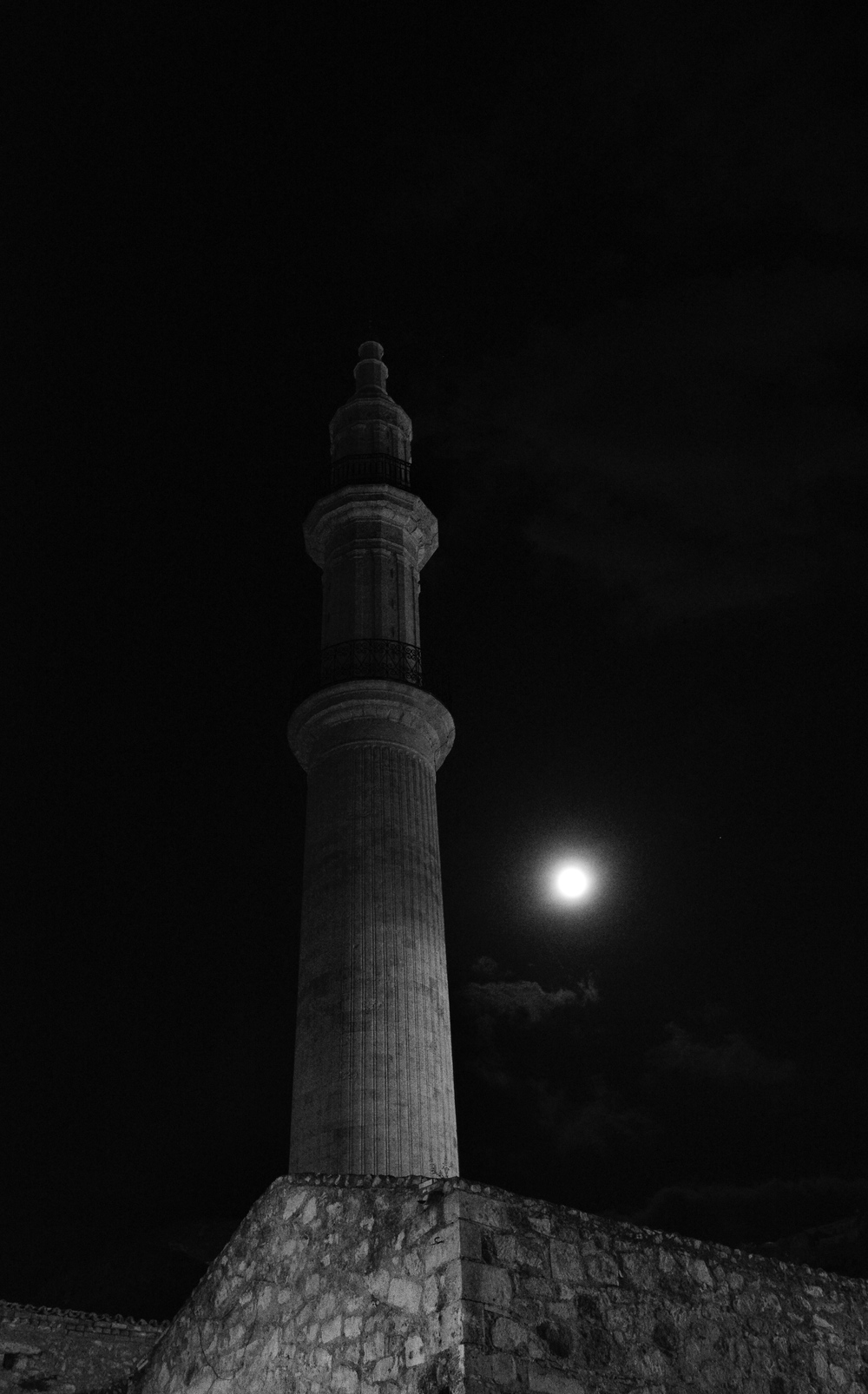 Moonlight over the Neratze Mosque and Minaret