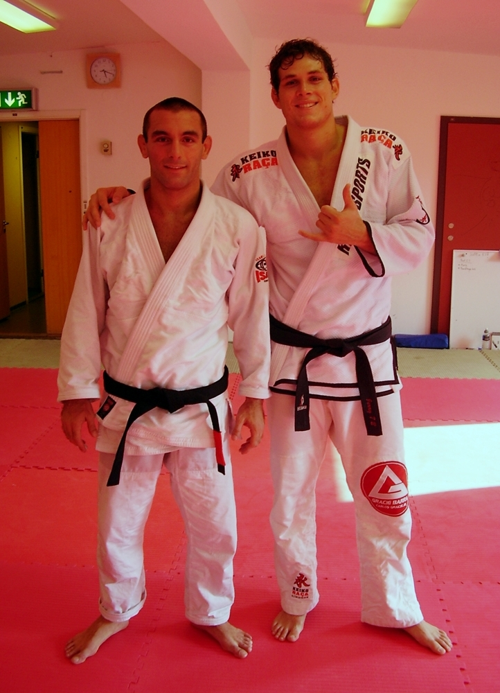 With Roger Gracie during his visit to Choke