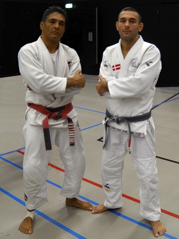 Master Rickson Gracie and Professor Joao Pedro Santos