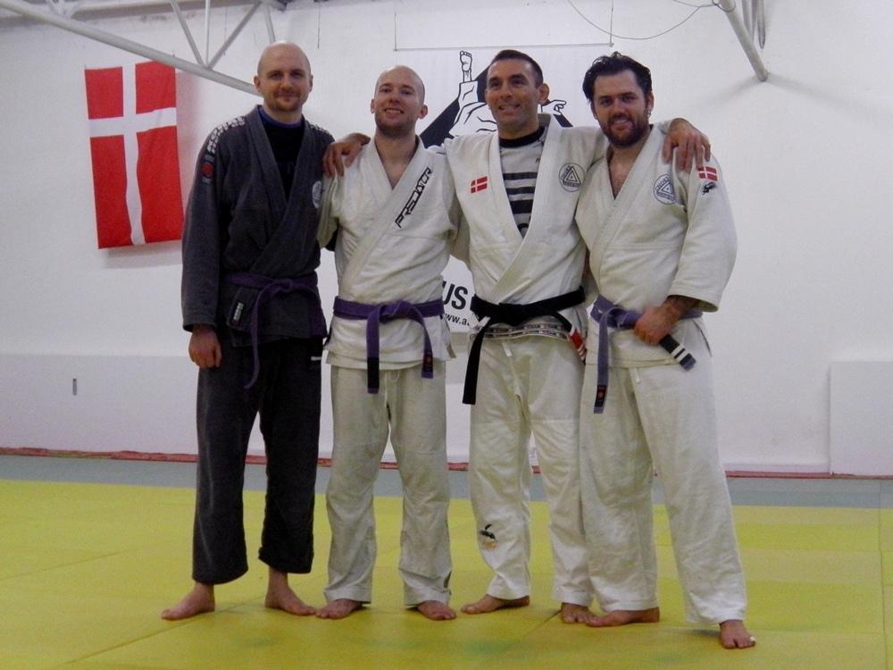 Choke BJJ Århus instructors Lasse Bager, David Nielsen, JP and Alexander Rasmussen