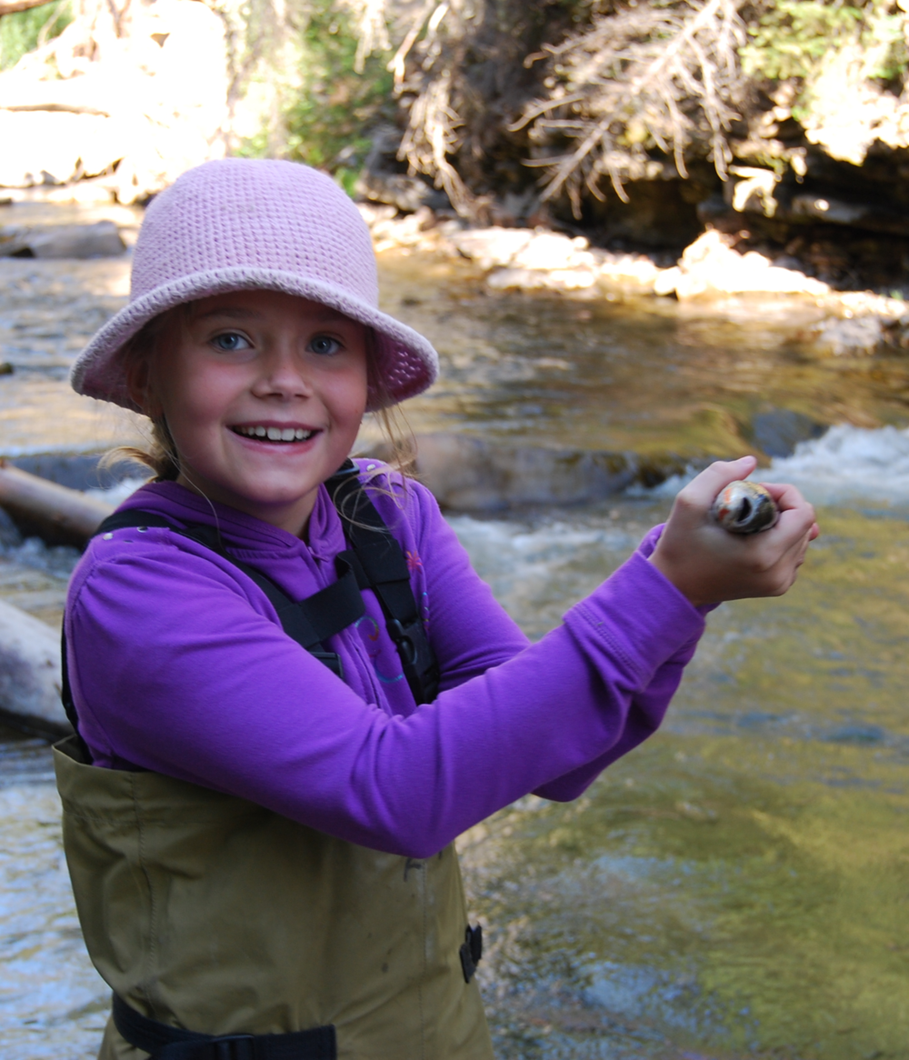 We love to introduce kids to flyfishing!