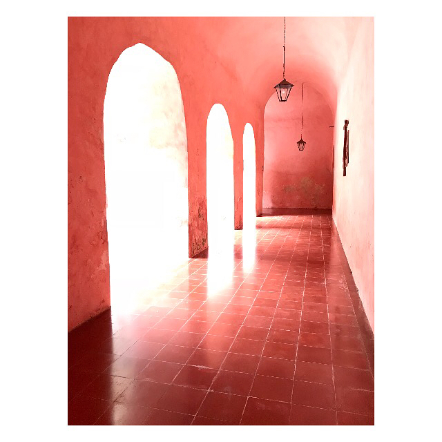 Pretty nice convent 💕#valladolidconvent #powderpink #underthearches
