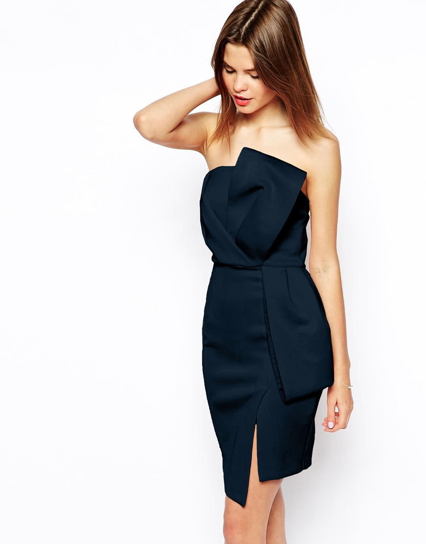 ASOS Origami Bow Pencil Dress