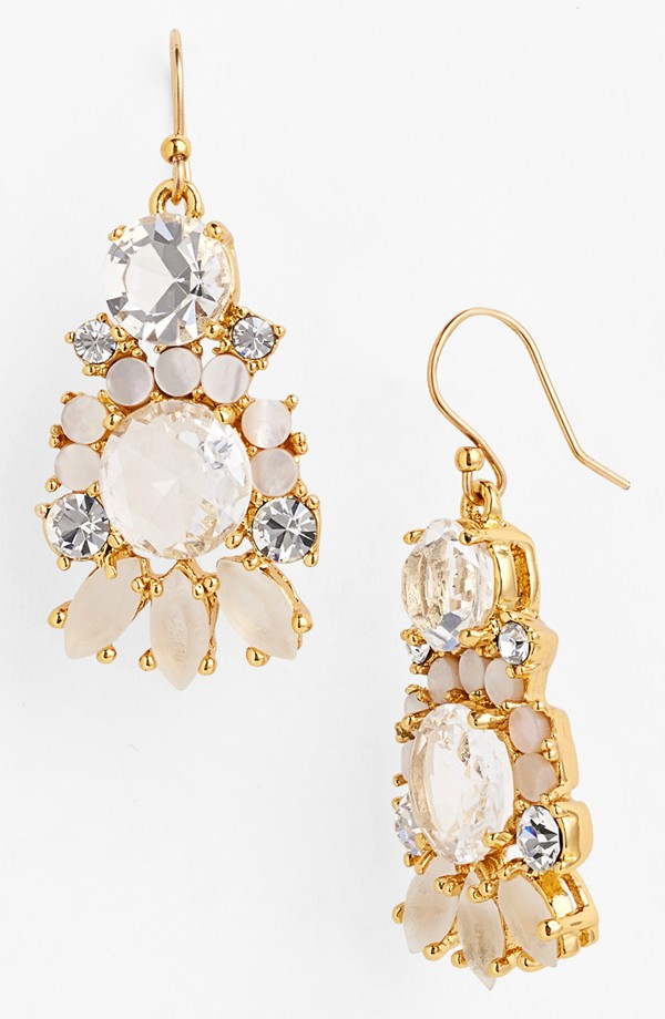 "kate spade ""Grand Bouquet"" mixed stone earrings - $98"
