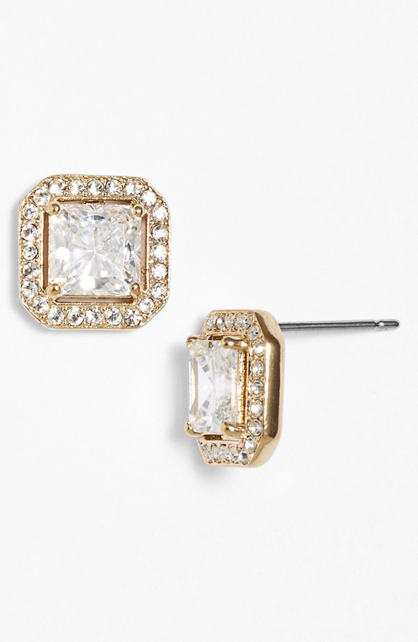 Nadri Cushion Cut Studs - $45
