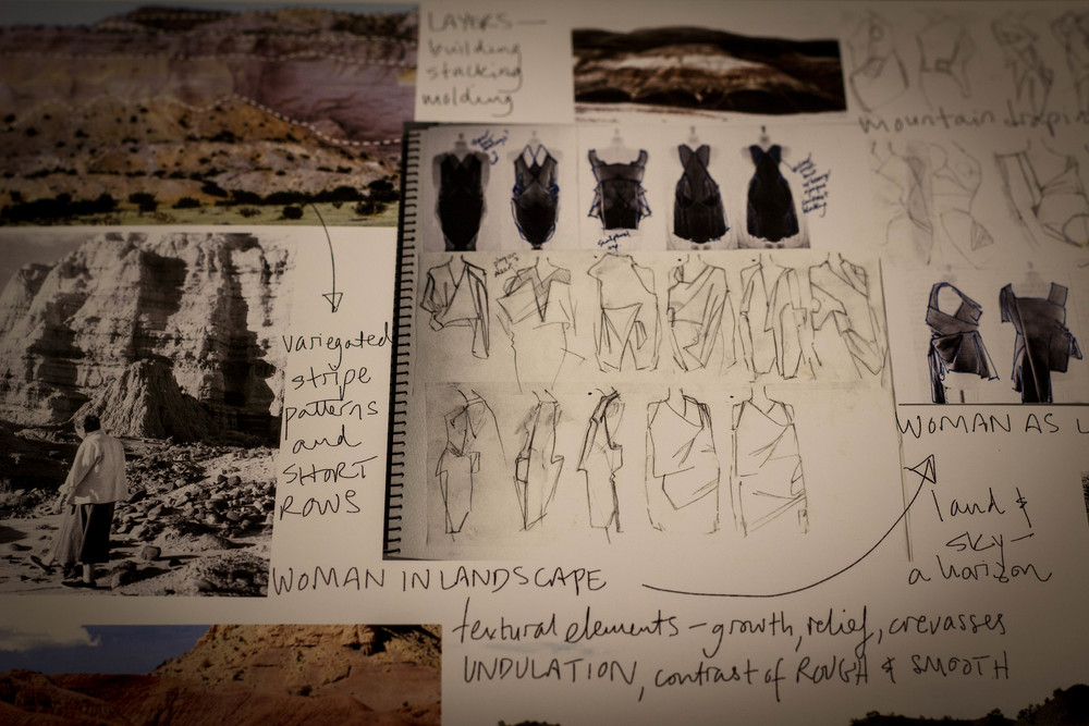 """Snapshot of """"A Woman Apart"""" collection process work"""