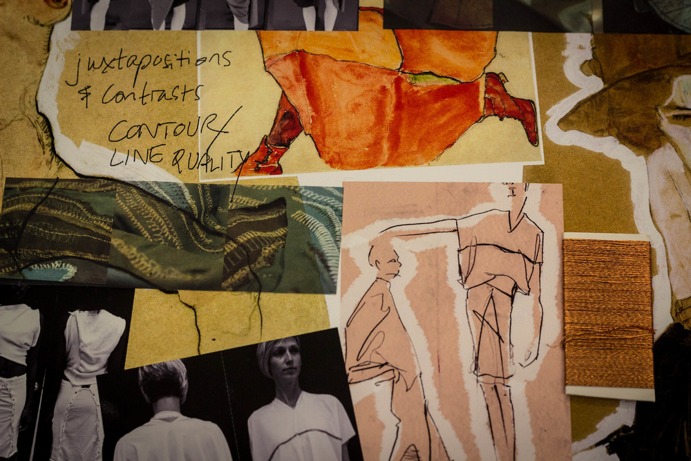 """""""Women in States of Undress"""" thesis collection process work"""
