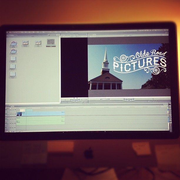 Editing the #FordWedding - intro title sequence (Taken with Instagram at Sanford, NC)