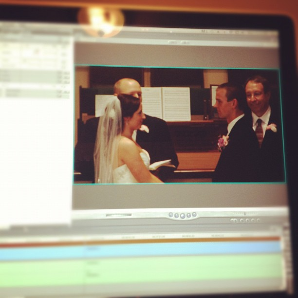 Editing the #FordWedding: Saying their vows (Taken with Instagram)