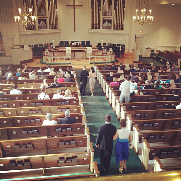 Seating has began #fordwedding  (Taken with  Instagram  at Jamestown United Methodist Church)