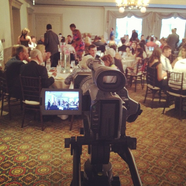 Almost time for the wedding party intros. (Taken with  Instagram  at Sedgefield Country Club)