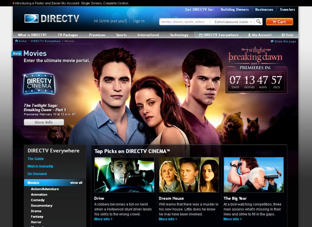 movies page header - Christmas Movies On Directv