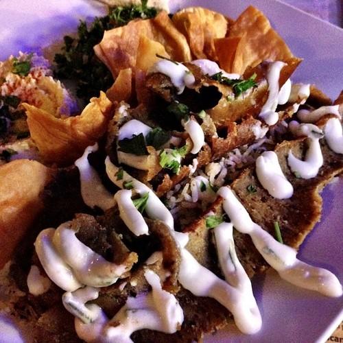 Lamb, Tabbouleh, Hummus, Pita