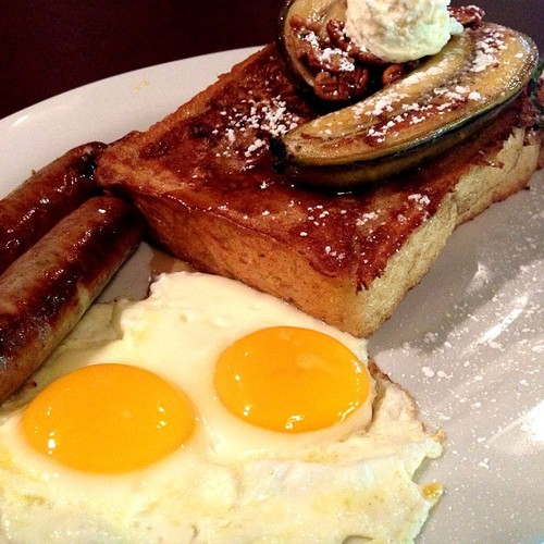 Eggs, Sausage, Banana, French Toast