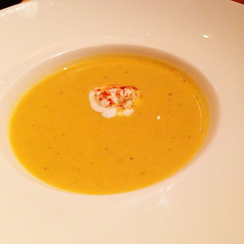 FALL SQUASH BISQUE Toasted sage marshmallow