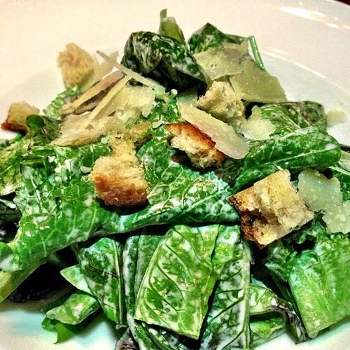 RUSTIC CAESAR SALAD:Romaine heart, creamy parmesan, torn croutons