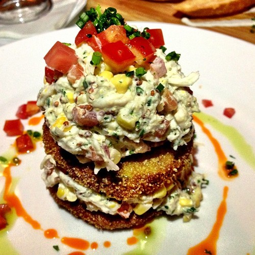 Roasted corn, lump crab, mustard dressing