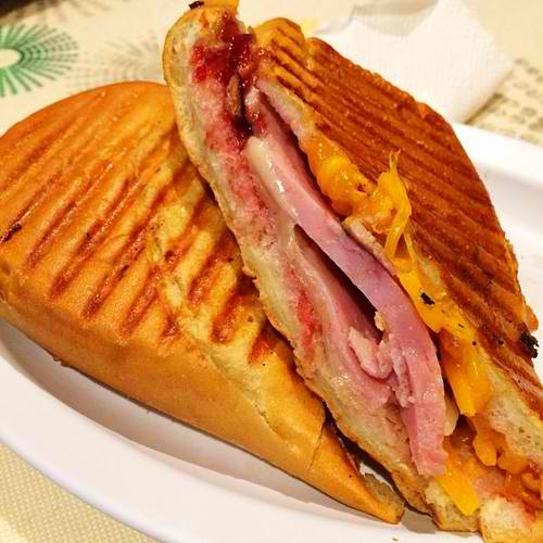 Ham and Apple WOW. Panini