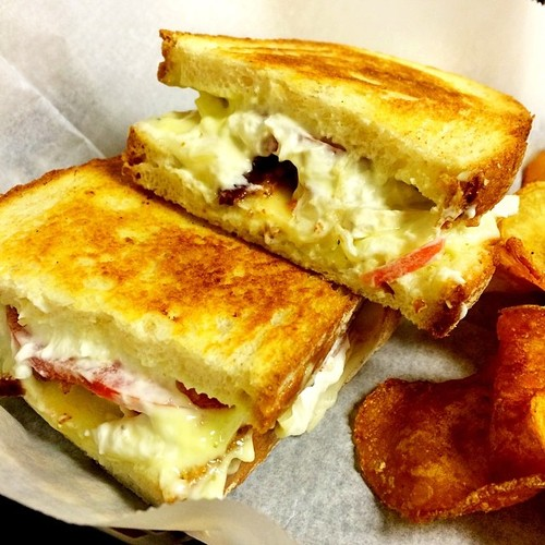 Grilled Cheese @ Kesh Restaurant| Brie, Goat Cheese, Provolone, Tomato