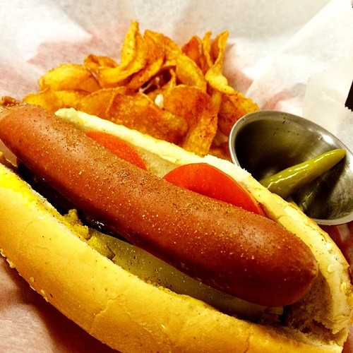 Chicago Style Hot Dog (The chef is a Chicagoan) @ Kesh Restaurant
