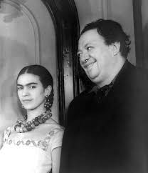 Kahlo and Rivera in 1932, three years after their first marriage.