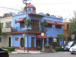 Frida Kahlo's Blue House, Coyoacan, Mexico, is now a museum, open for tourists.