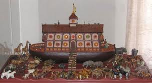 Lester Raymer's toy gift for his wife. This Noah's Ark has at least 35 pairs of hand-carved animals.