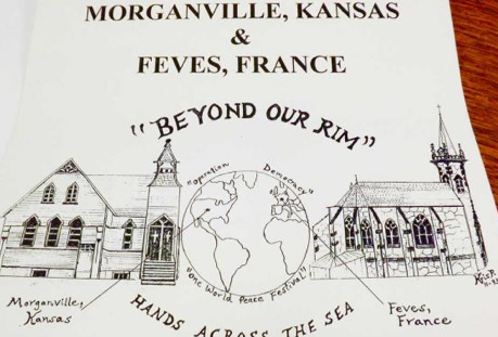 A reminder of the special relationship that stretches across the Atlantic between Morganville, Kansas, and Feves, France.