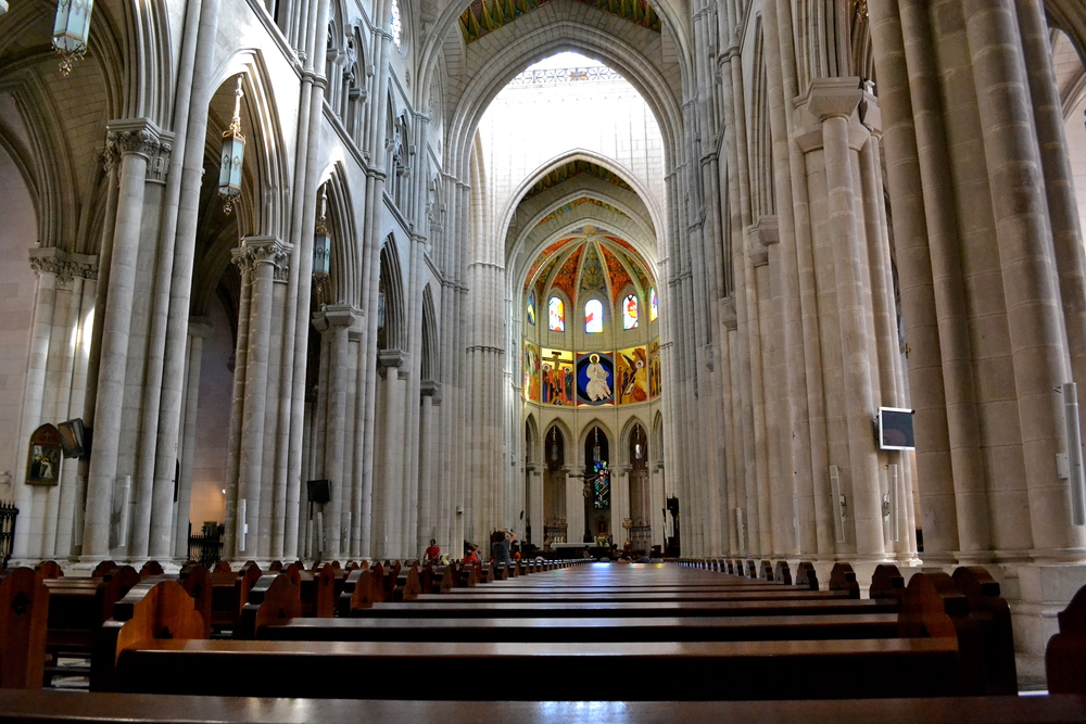 Inside the Almudena Cathedral