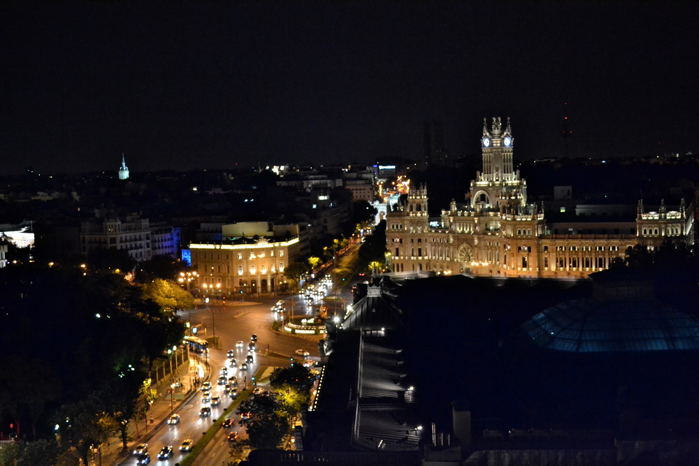 View of the Palacia from the top of the Circulo de Bellas Artes.