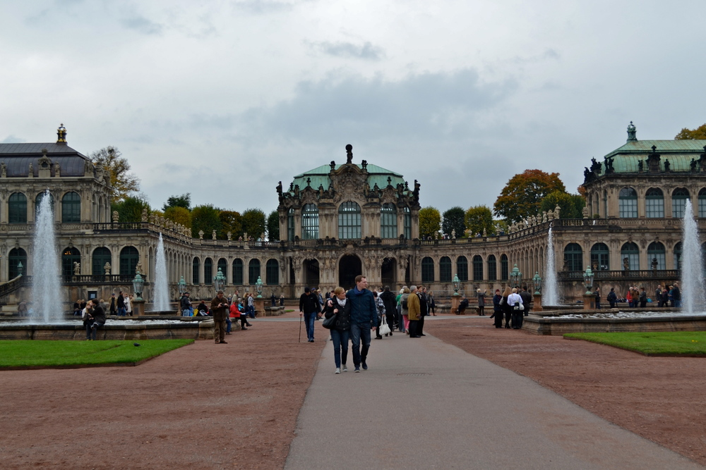 The courtyard of the Zwinger palace.