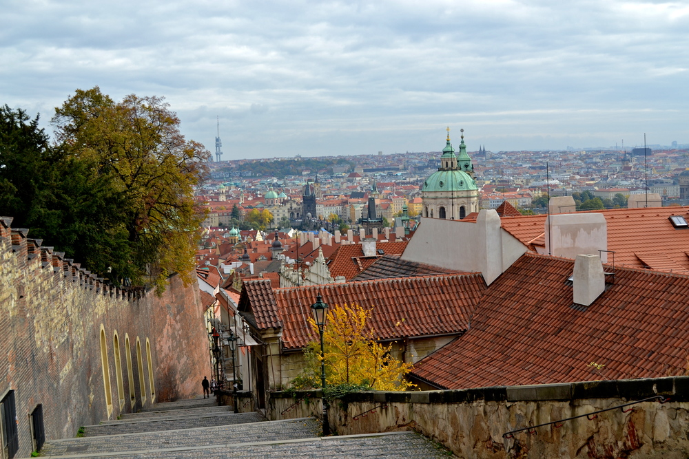 Looking out from the gardens of Prague Castle.