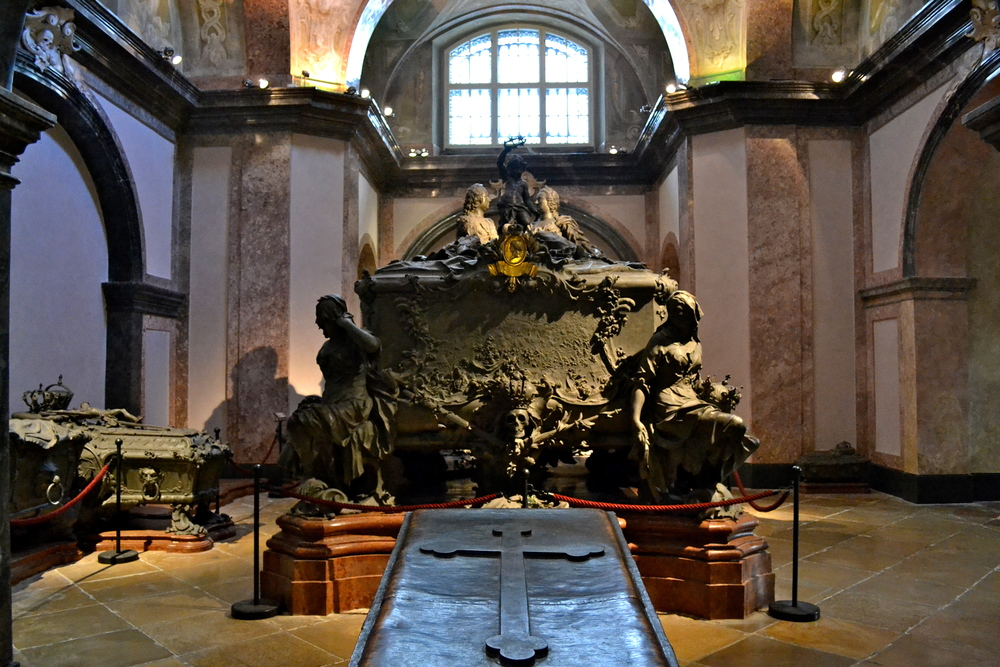 Maria Theresia's tomb in the Kaisergruft.