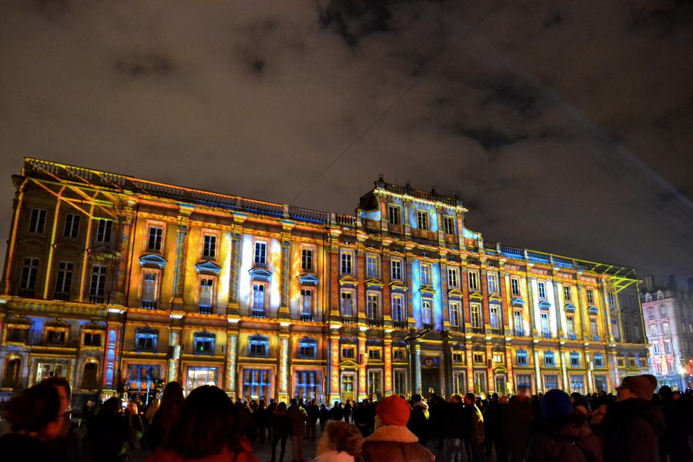 The lights at Place des Terreaux