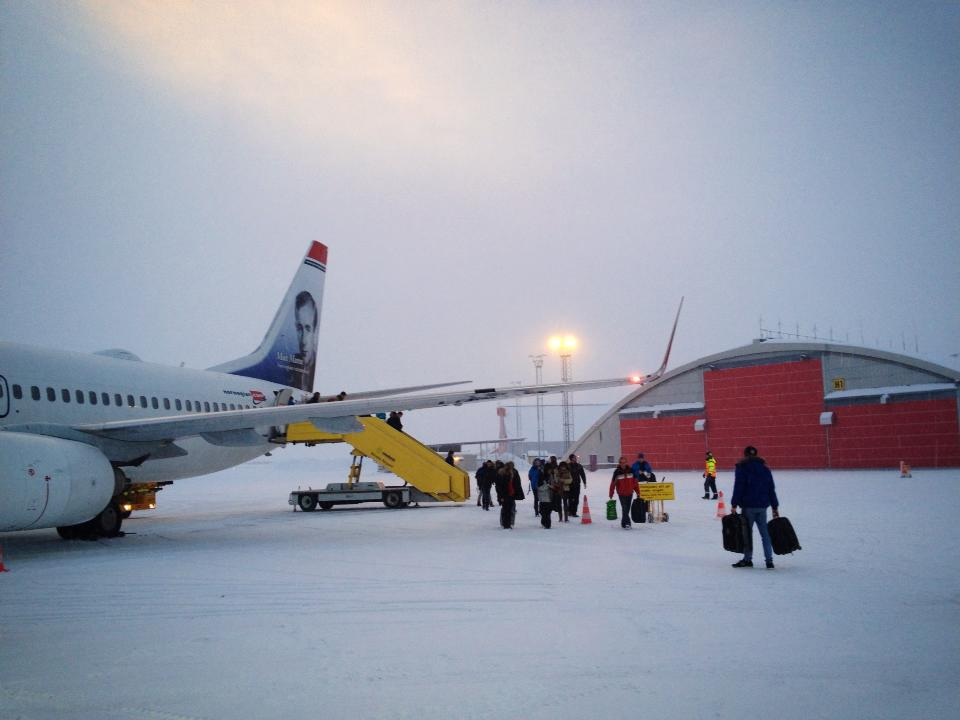 Landing in Kiruna (taken from my cell phone).