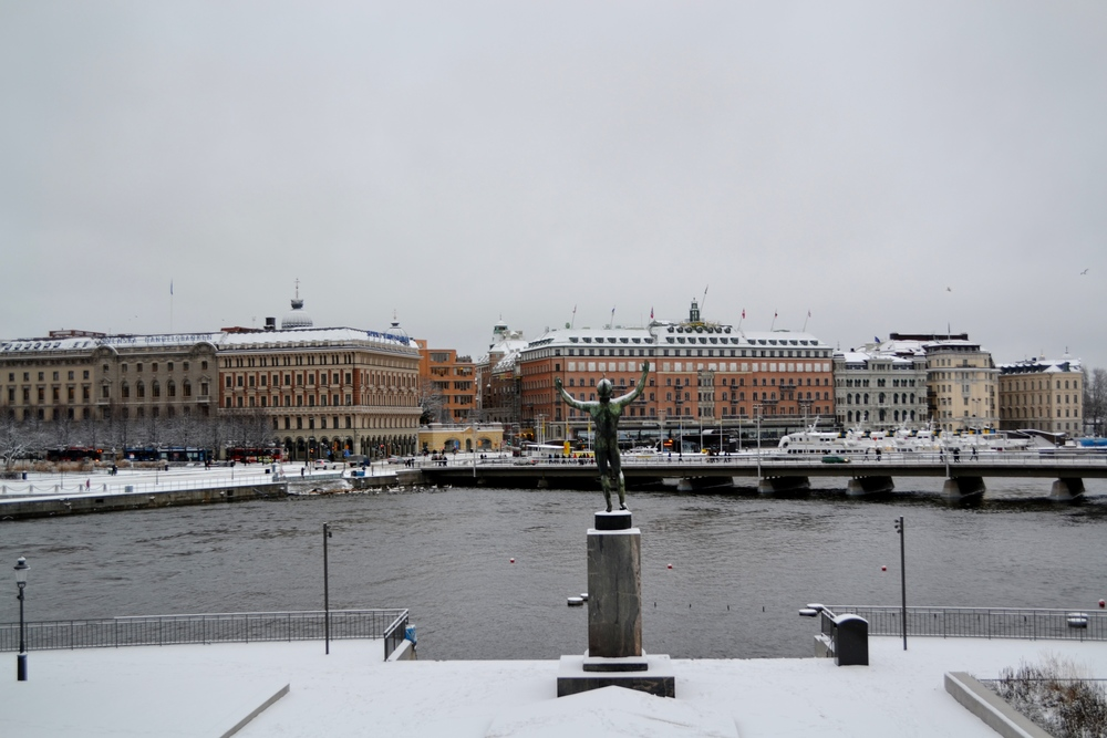Stockholm with snow.