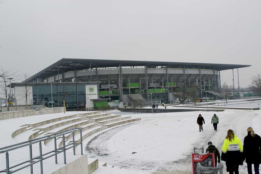 Volkswagen Arena in Wolfsburg, Germany.