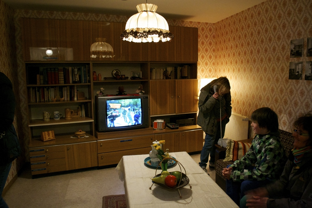 A typical East German living room at the DDR Museum.