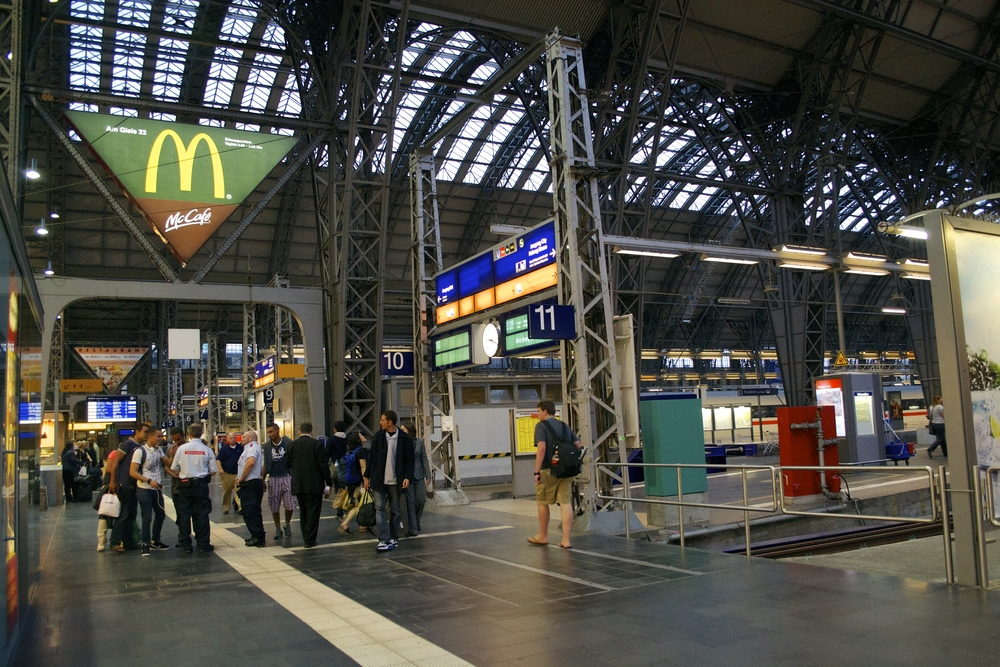 The Frankfurt main station: from here you can go just about anywhere in Europe.