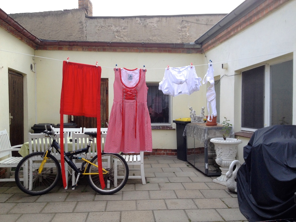 Despite what you may think, this is not what a typical German woman's laundry looks like.
