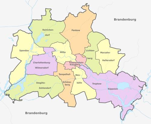 The bezirke of berlin