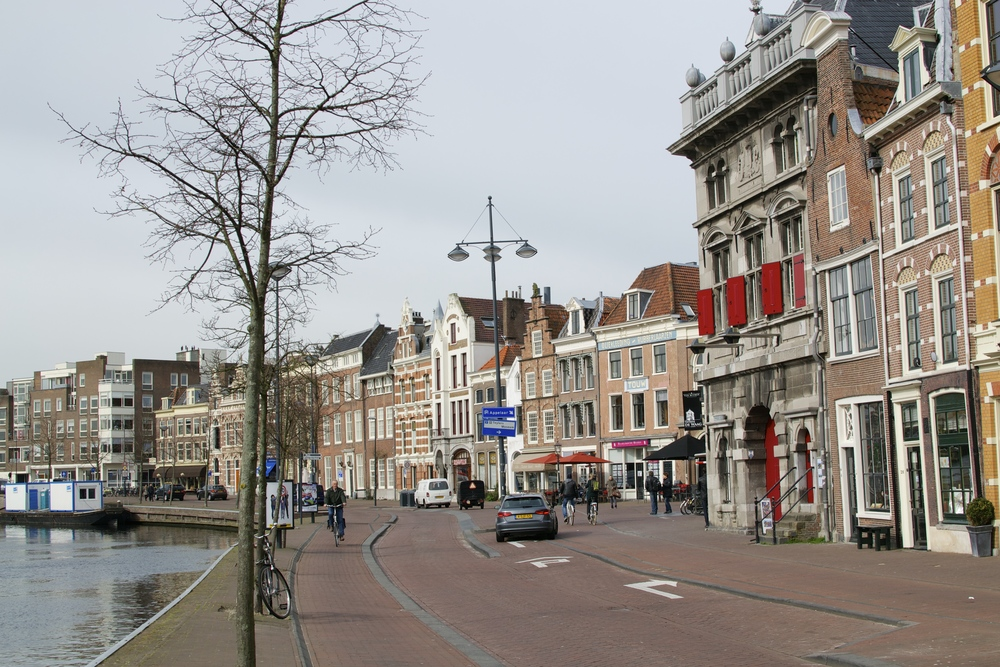 A typical street scene in haarlem