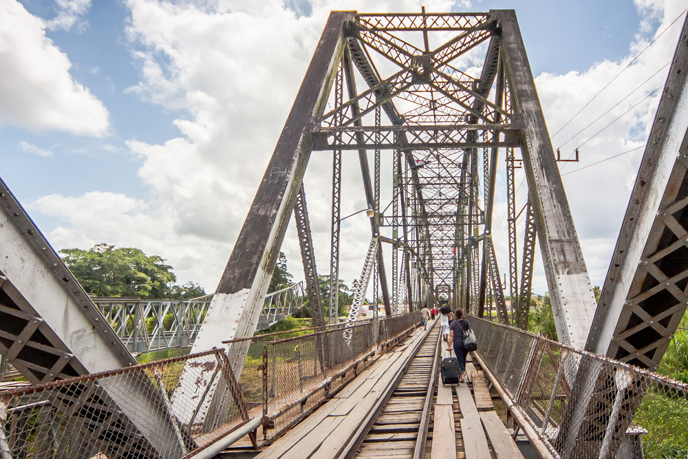 The memorable railway bridge walk, crossing the Sixaola River and the Costa Rican border into Panama.