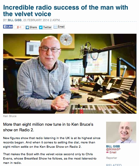 Ken Bruce, Photographed by Drew Morgan for the Sunday Post, Glasgow.