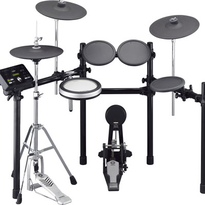 The Rhythm Studio is full of these Yamaha DTX 532K kits. All of the Yamaha electronic kits offer a realistic a drum feel, great sounds, and the ability to practice without agitating the neighbours.