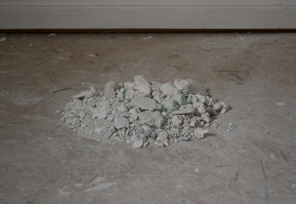 July 2013 , 2013. Plaster, 25.5x23x5cm.