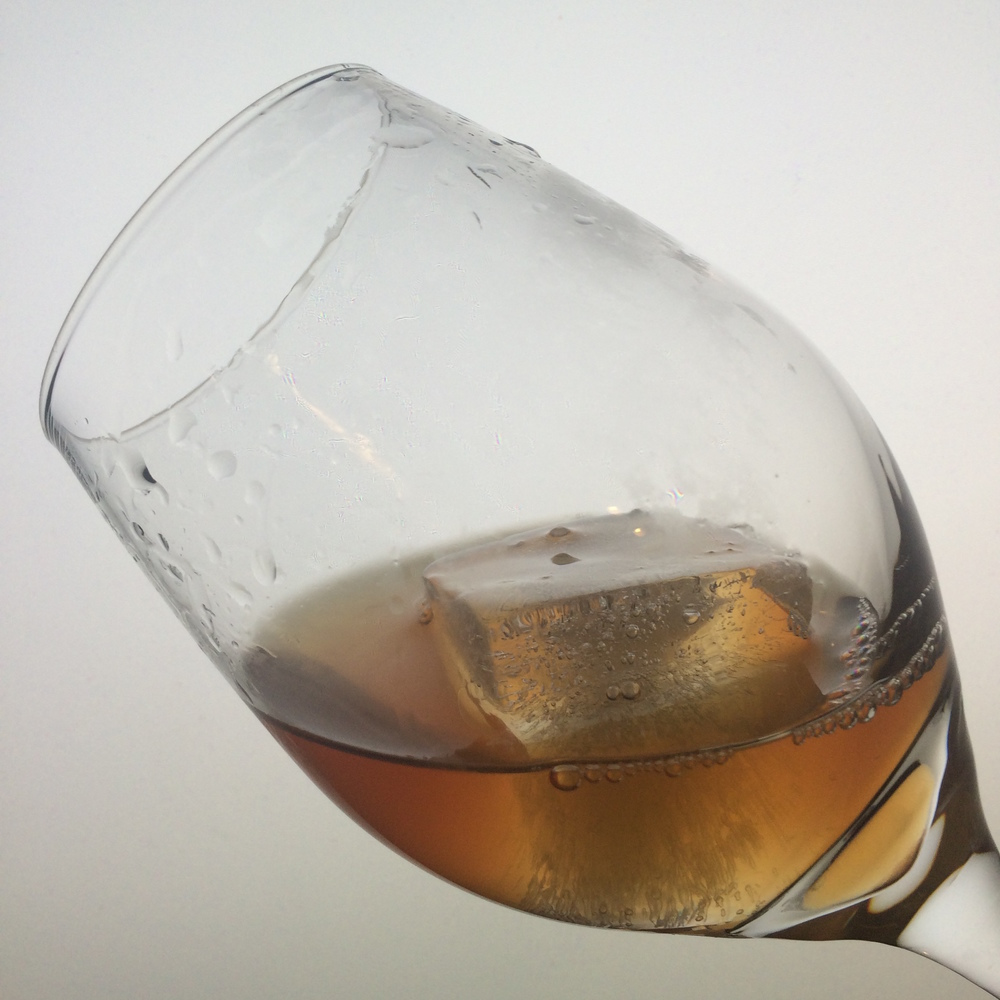 Serving an Old Fashioned Cocktail in a wine glass is a fresh experience as the aromatics are protected and more easily appreciated.