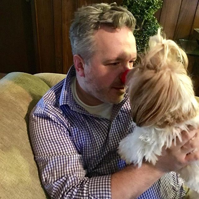 Another reason to celebrate... #rednoseday. Philomena was quite curious about the red nose. This is a great charity event from across the pond and something I truly believe in. Thanks to @walgreens