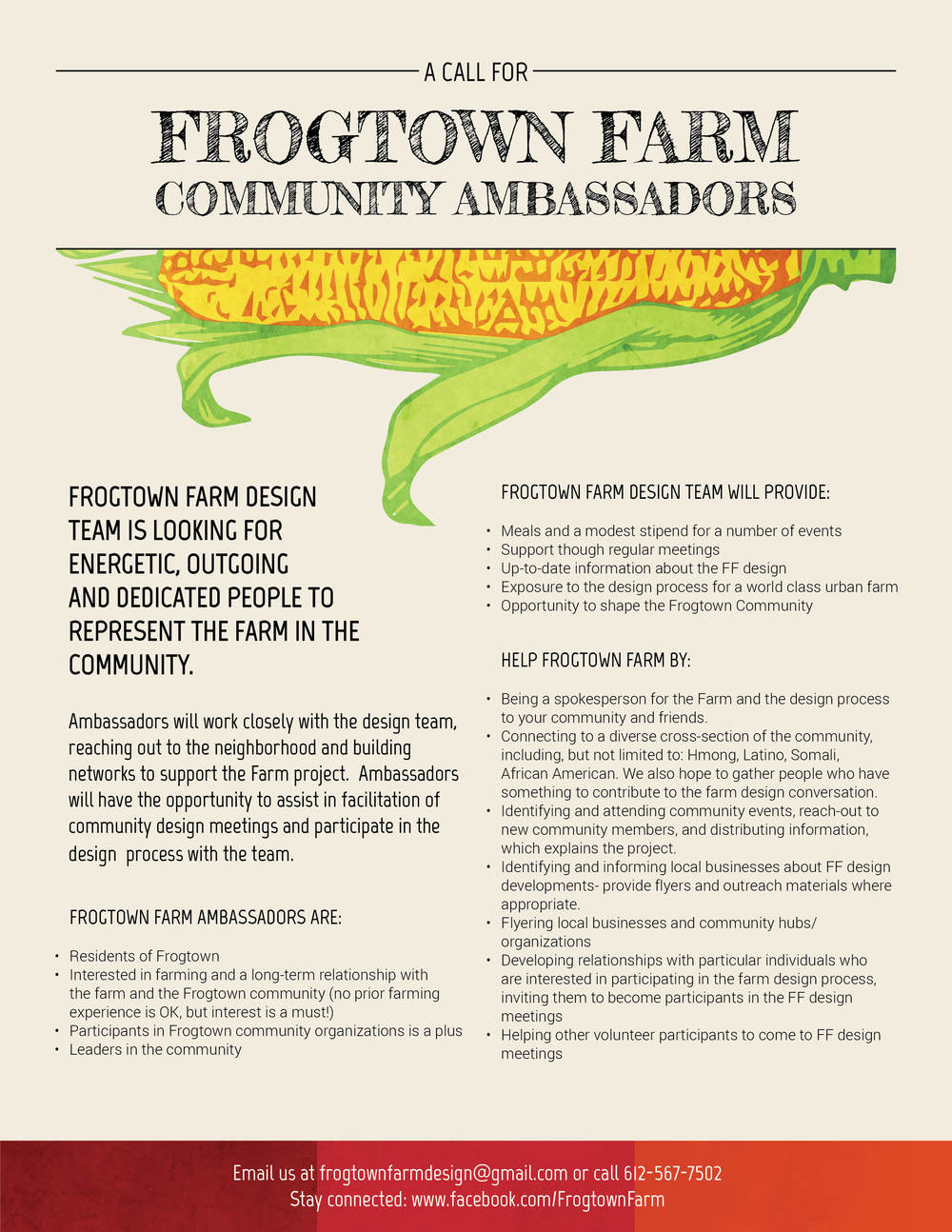 Flyer design for Frogtown Farm,  Rebar