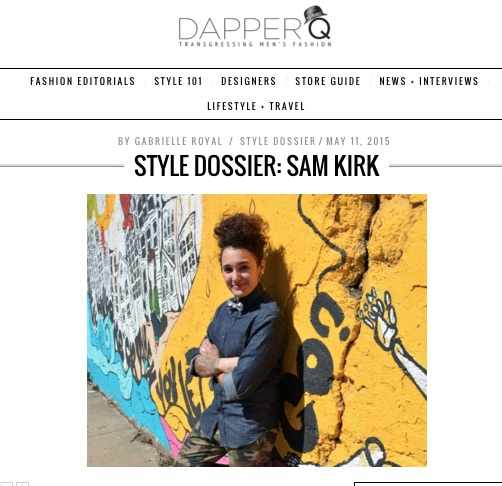 "DAPPER Q, ""STYLE DOSSIER: SAM KIRK"" BY GABRIELLE ROYAL"